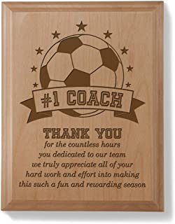 Kate Posh - #1 Soccer Coach Plaque and Award