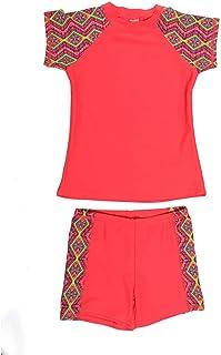d8e1c82ae790 DAYU Unisex Kids Rashguard Set Two Piece Swimsuit UPF 50+ UV 4-14 Years