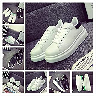 Men Shoes Sports & Outdoors Summer Men's Fashion Outdoor Men Fashion Shoe Casual Breathable Running Flats Men's Shoes Thick-Soled Shoes Couples Flats White Shoes Soft-Soled Shoes 0315-H02(Black,36)