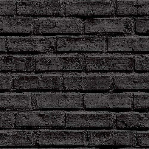 Arthouse 623007 - Papel pintado de ladrillo negro
