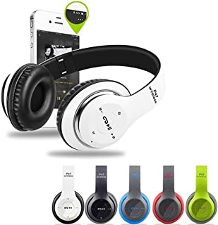 Lanbter On Ear Headphones with Mic, Lightweight Portable Fold-Flat Wireless Bluetooth Stereo Headphones for Computer, Tablet, Phone