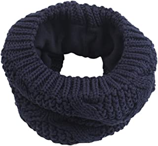 Knitted Cotton Baby Girls Scarf Double Layer Kids Round Scarf Boys Collar Scarves Autumn Winter 1-4Y