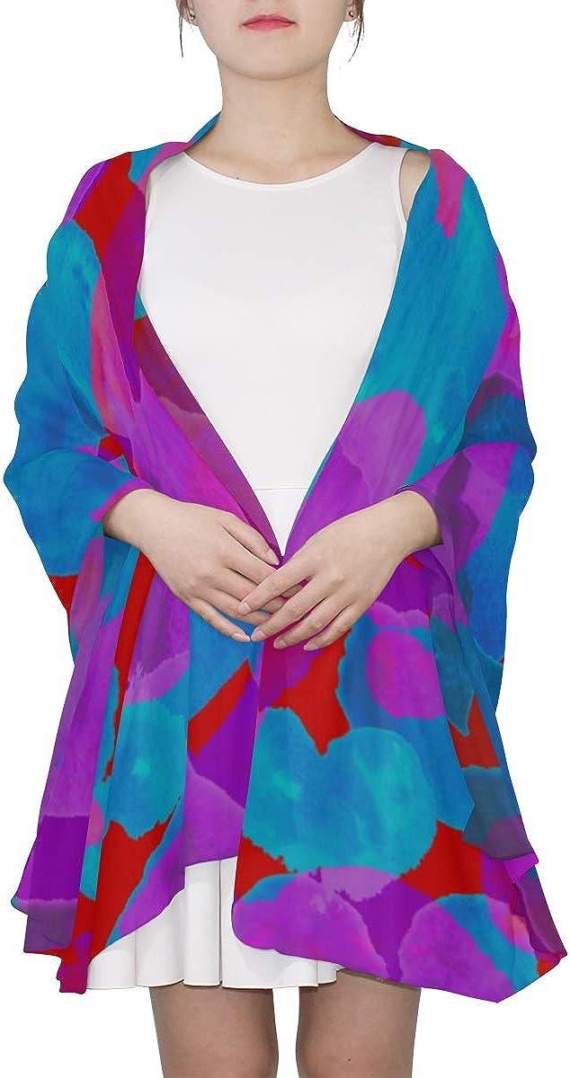 Fashion Scarf Lightweight Art Cartoon Love Heart-shaped Print Men Scarf Lightweight Lightweight Scarf Women Lightweight Print Scarves Colorful Scarfs For Women Girls Shawl Wrap