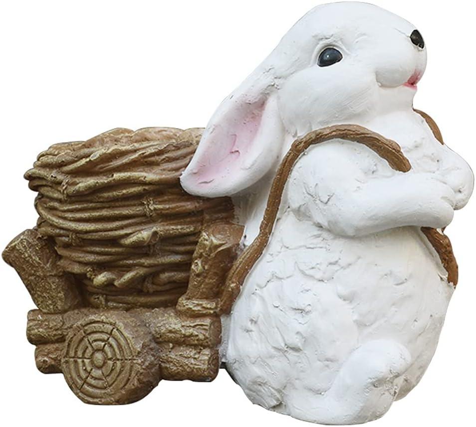 Garden Decor Creative Simulation Rabbit Decoration Re Pot Cheap Flower Los Angeles Mall