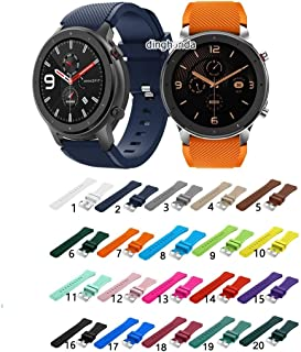 ZOUJIN Silicone Watch Band Metal Clasp Strap for Huami Amazfit GTR 47mm GTR 2 (Color : 16)
