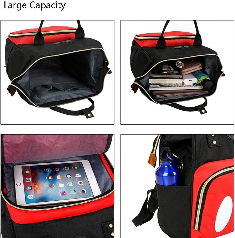 Exttlliy Baby Diaper Bag Backpack, Large Capacity Waterproof Multi-Function Fashion Polka Dots Travel Bag Pack, Nursing Bag