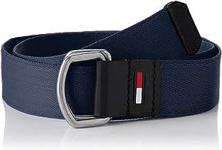 حزام للرجال من تومي هيلفغر، أسود (زهرة السوسن الأسود، 95 سم