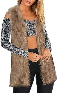 ✫Sexy Thickening Vest,Women's Slim Fit Fox Mink Parka Faux Fur Warm Jacket Gilet Cardigan Coat