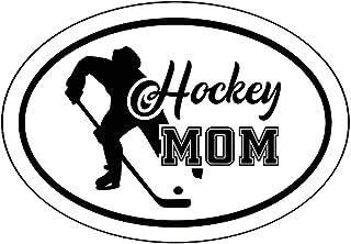 WickedGoodz Ovaler Aufkleber für Hockey Mütter, Eishockey Stoßstangen Aufkleber, Eishockey