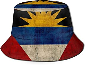 CHEERPEACETIME Fisherman Bucket Caps Antigua and Barbuda Flag Unisex Packable Summer Sun Hat