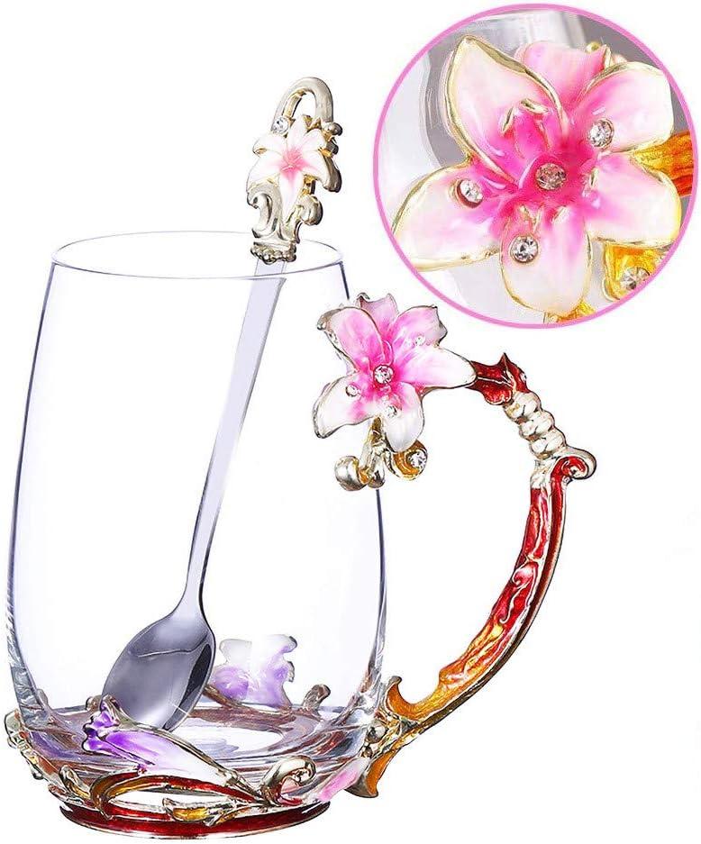 Tea Cup Coffee Mug Cups with Popular brand Clear Mugs Glass Large-scale sale