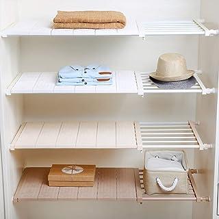 Yoillione Étagère extensible pour placard de cuisine, armoire, étagères de rangement réglable, sous l'évier Organiseur à c...