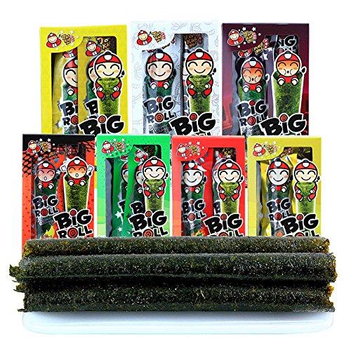 bigroll(Tao Kae Noi/小老板 烤海苔 多口味任选)Snack Instant seaweed即食烤海苔 原味鱿鱼辛辣烧烤味紫菜卷进口零食 包邮 Chinese Ltd