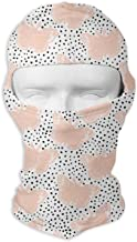 Pink Butterfly Bliss Design Studio Men Women Balaclava Neck Hood Full Face Mask Hat Sunscreen Windproof Breathable Quick Drying