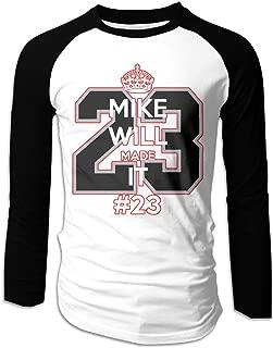 MIKE WILL MADE IT #23 Men Baseball Shirts Raglan Long Sleeve Printing T Shirt