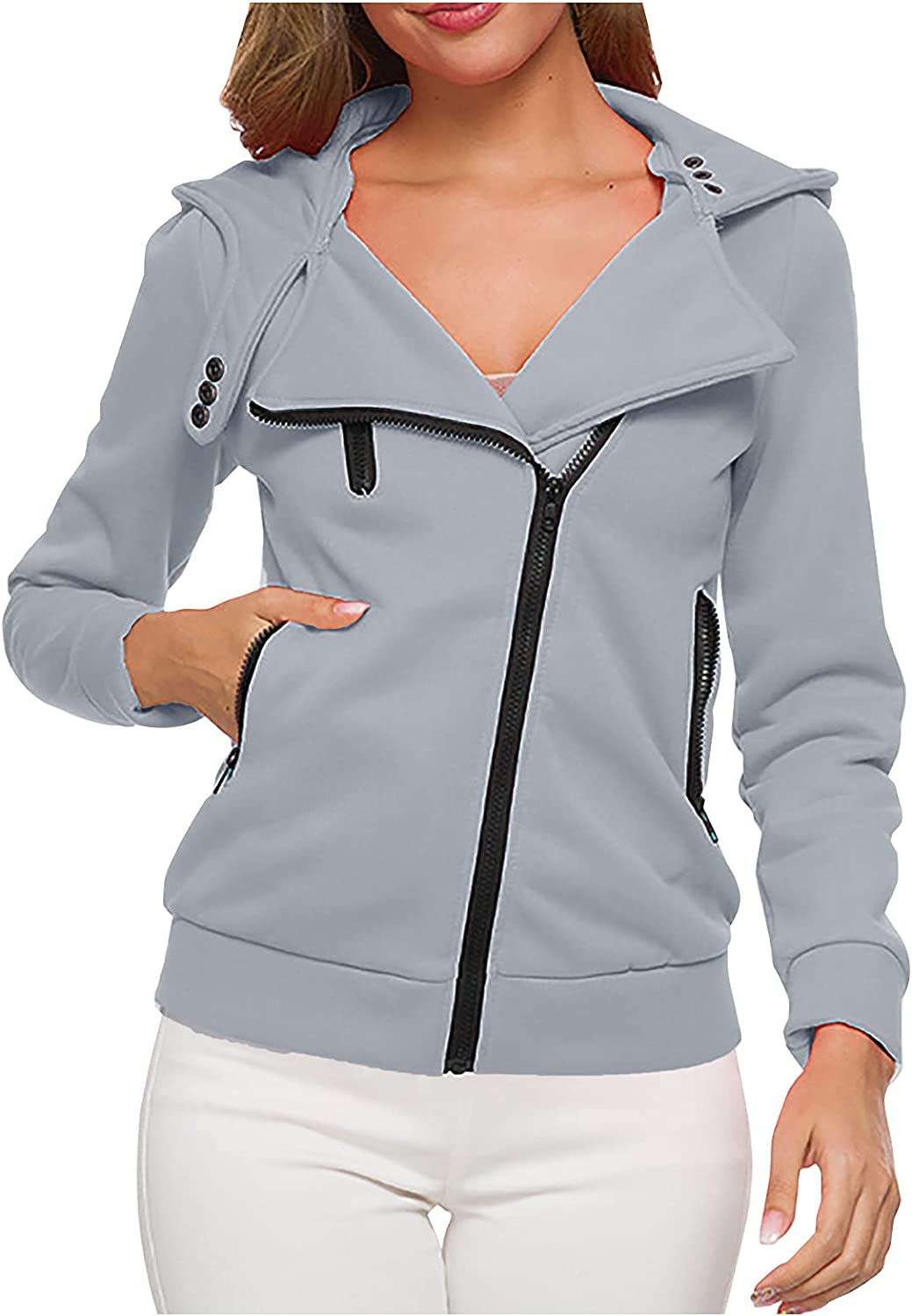 Casual Girls Jacket Slim Trench Coats For Women Cute Hoodies For Women With Pocket