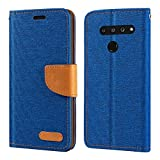 LG V50 ThinQ 5G Case, Oxford Leather Wallet Case with Soft
