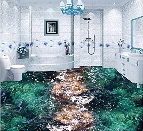 Wohnkultur Fr Kinder Meerwasserspray Seewelle 3D Boden-200 * 140Cmhome Decoration Moistureproof Waterproof Sound Absorptioncustom