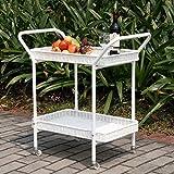 Jeco Outdoor Resin Wicker Serving Cart...