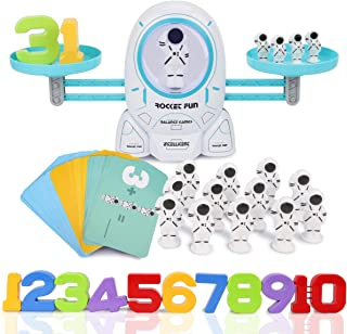 Nueplay Kids Toys for Age 3 4 5 6 7+ Year Old Boys Girls Gifts Space Balance Number STEM Educational Preschool Learning Counting Math Fun Games