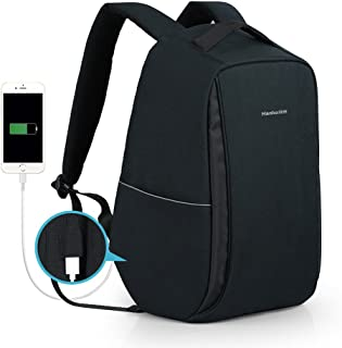 Anti Theft Travel Backpack Business Laptop Backpack Water Resistant College Student Book Bag Black with USB Charging Port for Men & Women by Hanke