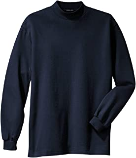 Men's Interlock Knit Mock Turtleneck in Sizes XS-6XL