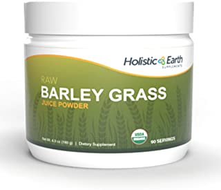 100% Organic Barley Grass Juice Powder, Ancient Sea Bed Volcanic Soil, Grown in The USA, Bioactive & Raw - Combine with Ou...