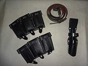 warreplica WWII German K98 Leather Ammo Pouch, Bayonet Frog and Sling - Reproduction