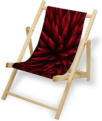Aluminium Liegestuhl Bedruckt Balkon Garten Sonnenliege Relax Holz Terrasse Printalio Grau Hoheitsgebiet