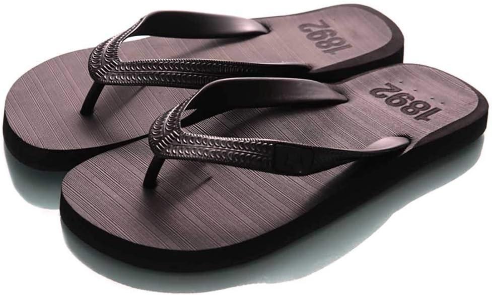 Tia Mens Flip Flop Summer Beach Bathroom Slipper Indoor Or Outdoor Anti-Slip Casual Flat Sandals, Durability and Comfort