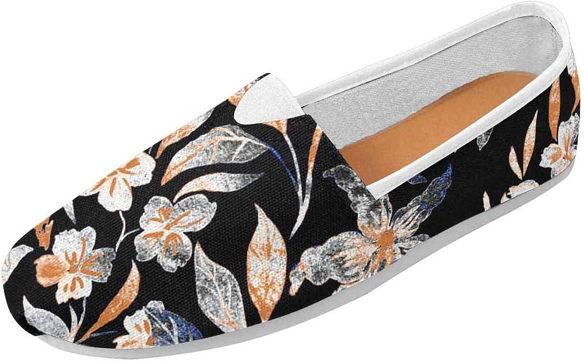 InterestPrint Art Floral Women's Comfort Slip-on Loafers