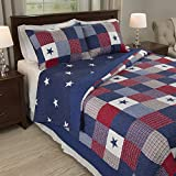 Patriotic Patchwork Quilt Set