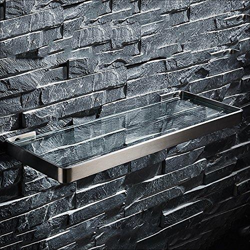 LJHA Étagères de rangement de toilette en acier inoxydable en verre brossé (3 pièces en option) (taille : 35 * 14cm)