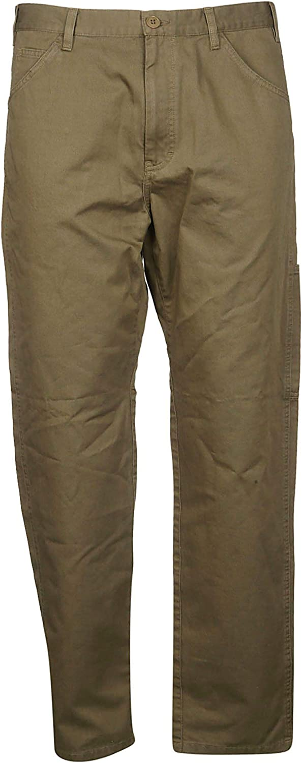 A.P.C. Men's COCWCH08325JAAKAKI Green Cotton Pants