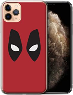 eSwish Gel TPU Phone Case/Cover for Apple iPhone 11 Pro Max/Deadpool Mask Inspired Design/Super Hero Comic Art Collection