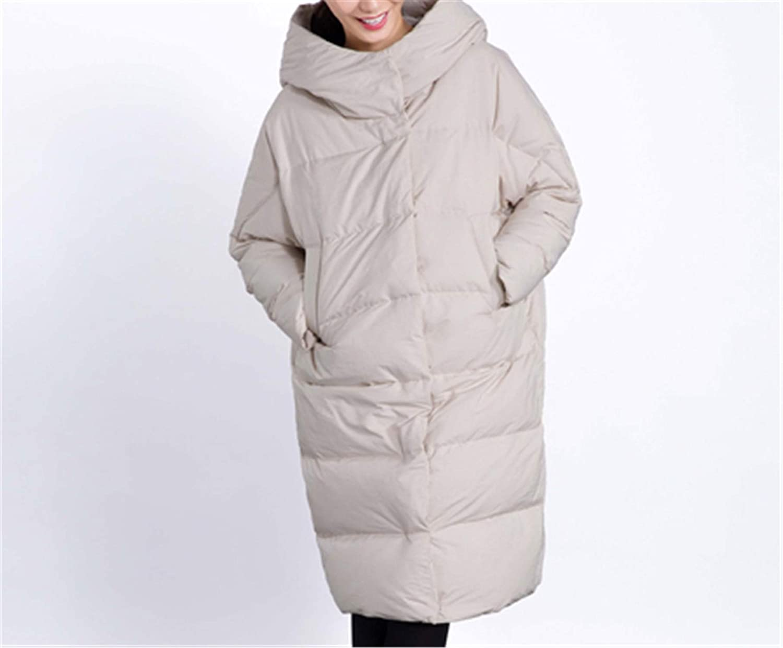 Nelliewins Winter Jacket Women Solid Long Style Thick Warm Hooded Women's Down Jacket Windproof Loose Coat Outwears O606
