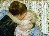 Artland Alte Meister Premium Wandbild Mary Cassatt Bilder Poster 45 x 60 cm Der Gute-Nacht-Kuss Kunstdruck Wandposter Impressionismus R1VM