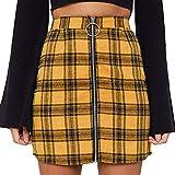 Shobdw Falda para Mujer con Estampado Estilo Ingles Faldas D