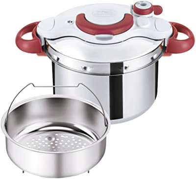 T-FAL Pressure Cooker ClipsoMinut Easy 6.0L (Ruby Red) P4620769【Japan Domestic Genuine Products】 【Ships from Japan】