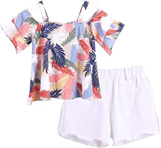 GIRLS MERMAID SHORTS OUTFIT TSHIRT VEST HEADBAND SET SUMMER CLOTHING UK SELLER