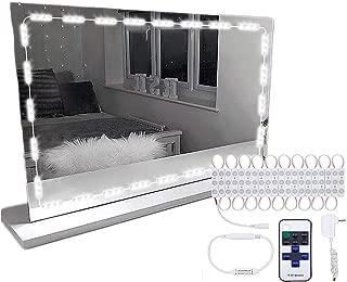 LED女優ミラーライト リモコン付け 三段調光 安全 省エネ 全長4m 防水レベルIP65 6000k ダイナミックモード持つ KingSo ハリウッドライト ドレッサー ライト ledランプ60個 化粧台ライト 鏡ライト メイクアップ 日光白い(鏡含まれません)