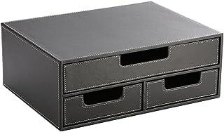 Boîte de Stockage de Documents du classeur d'unité Centrale A4 Bureau de Commerce de Bureau (Couleur : Noir)