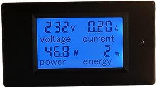 HiLetgo Digital Multimeter AC 80-260V 100A PZEM-061 LCD Display Digital Current Voltage Power Energy Multimeter Ammeter Voltmeter with Current Transformer CT
