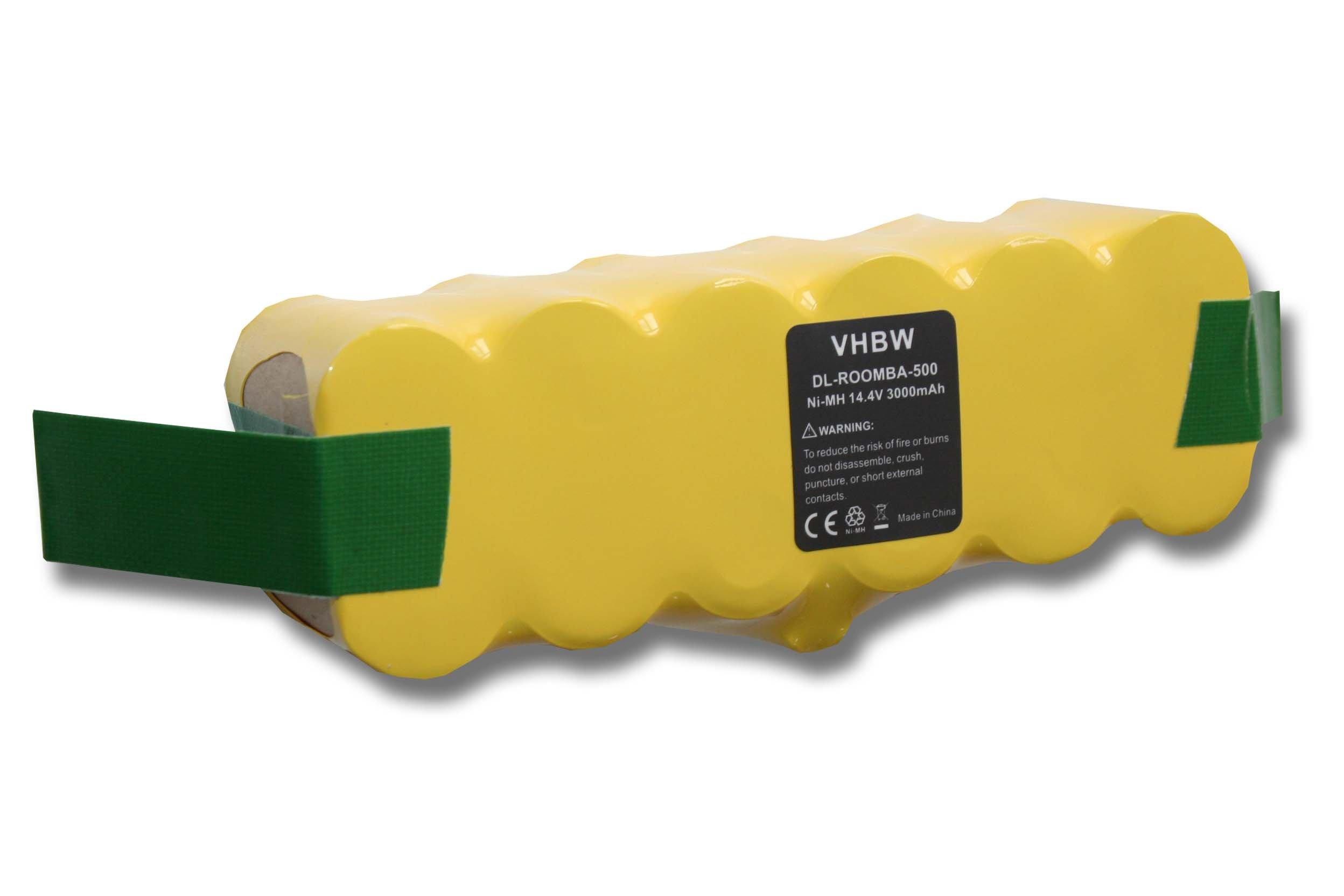 vhbw Batería Ni-MH 3000mAh (14.4V) compatible con iRobot Roomba 500, 510, 520, 531, 534, 564 aspirador reemplaza 11702, GD-Roomba-500.: Amazon.es: Hogar