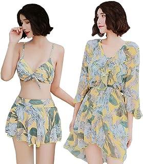 (ミヤマ)MIYAMAタンキニ レディース 水着 3点セット セパレーツ ビキニ 可愛い 体型カバー女性水着UVカット温泉ニューモデル
