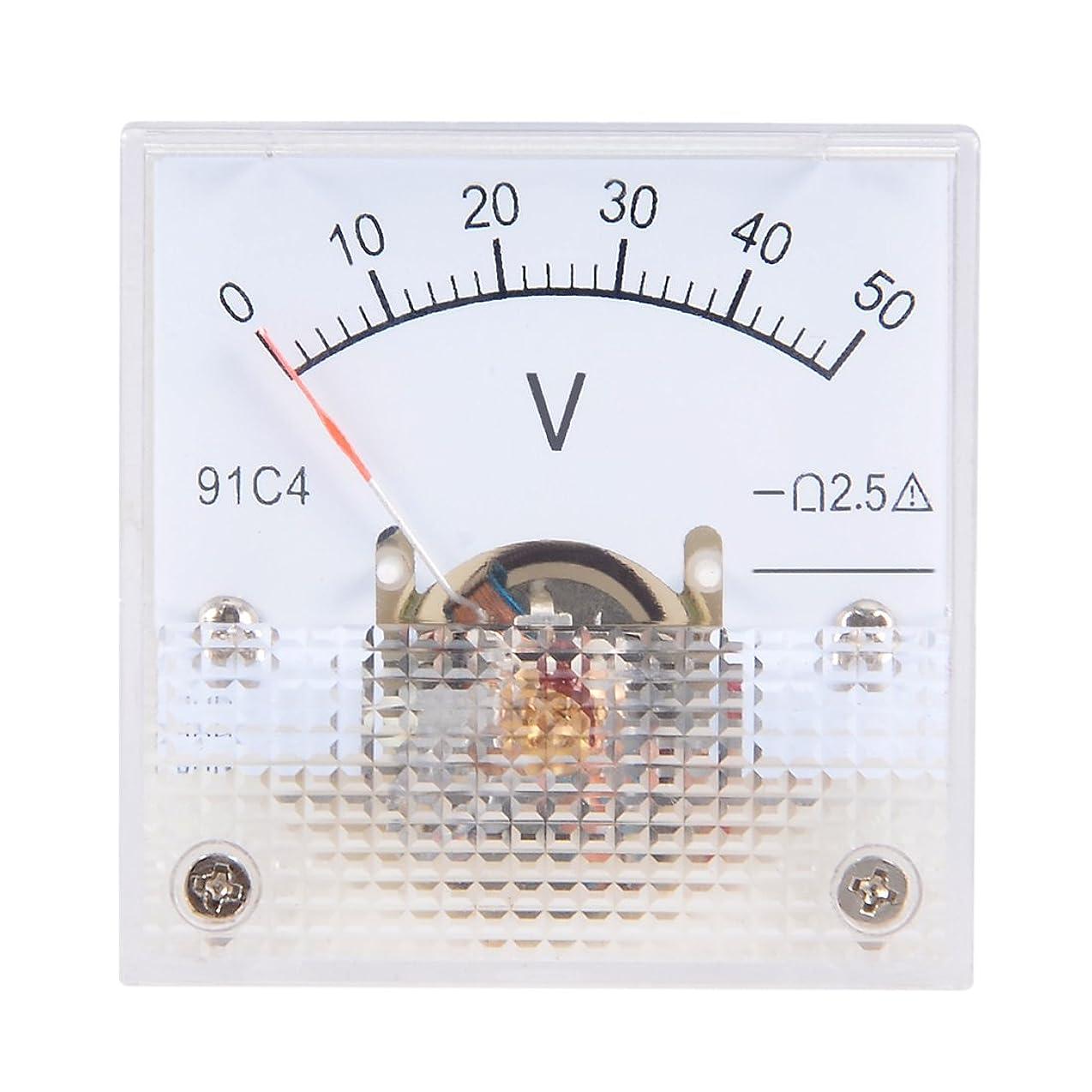 啓発する突き出す対立uxcell 電圧計 アナログパネル電圧ゲージ DC 0-50V 誤差マージン2.5% 91C4