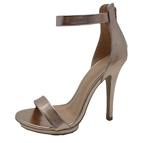 a8309dacacd Wild Diva Amy-01 Womens Open Toe Ankle Strap High Stiletto Heel Platform  Pump Sandal