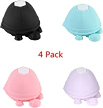 Turtle Silicone Cell Phone Holder Suction Cup Stand Earphone Wrap Cable Headphone Cord Winder 2-in-1 Multifunctional for Phone/Ipad Smart Phone Tablet -4 PCS. (Style 8)