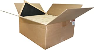 Mann Lake Assembled Commercial Frames with Waxed Black Rite-Cell Foundation (20 Pack), 9-1/8