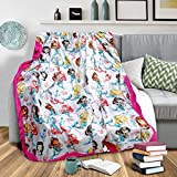 CRAFTLINEN™ Premium Super Warm & Cozy Feather Soft Digital Print Poly Fur Baby/Toddler/Kids Blanket (Girls - 0 to 4 Years - Large 120 X 130 cms/Heavy - Wt - 850 Grams) - Pink Mermaid